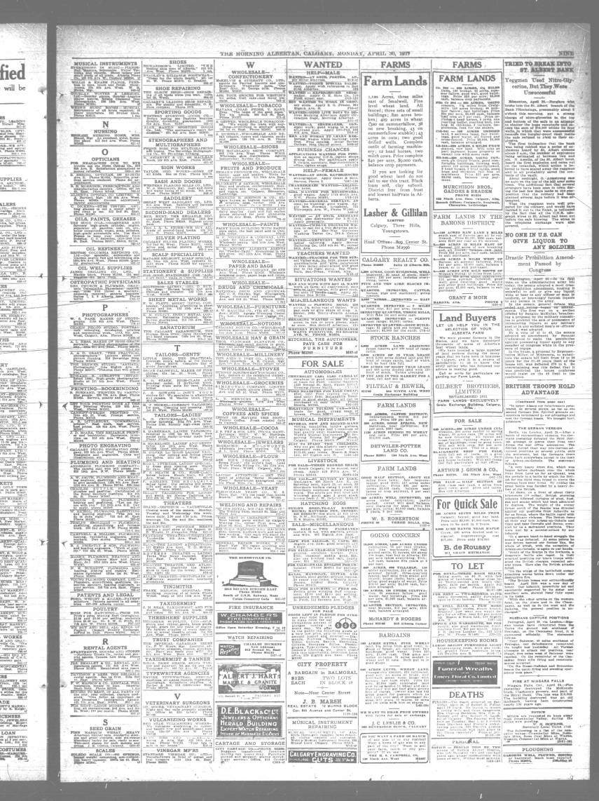 280 - Early Alberta Newspapers - Digital Collections