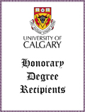 UofC Honorary Degree Recipients: Harvie, Eric Lafferty