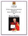 UofC Honorary Degree Recipients: Golden, Anne