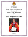 UofC Honorary Degree Recipients: Gibbins, Roger