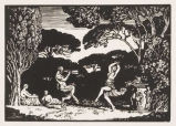 Nymph and Satyr Dancing in a Grove as Appeared in L'Image