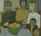 Family With Bowl Of Fruit