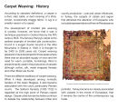 Carpet weaving : history